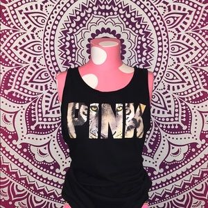 VS PINK Black Tiger Tank Top